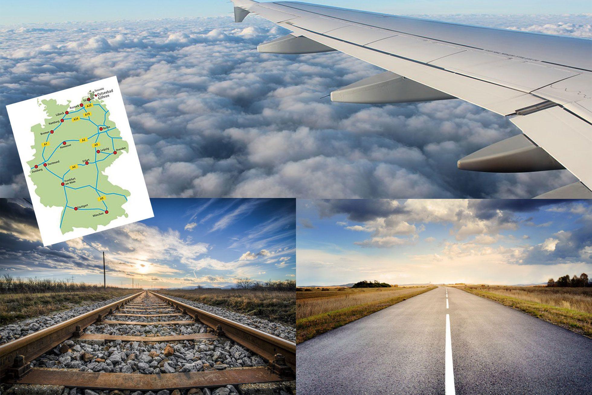 Anreisetipps - Auf der Straße, auf Schienen oder in der Luft