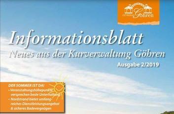 Ostseebad Göhren - Informationsblatt 2/2019